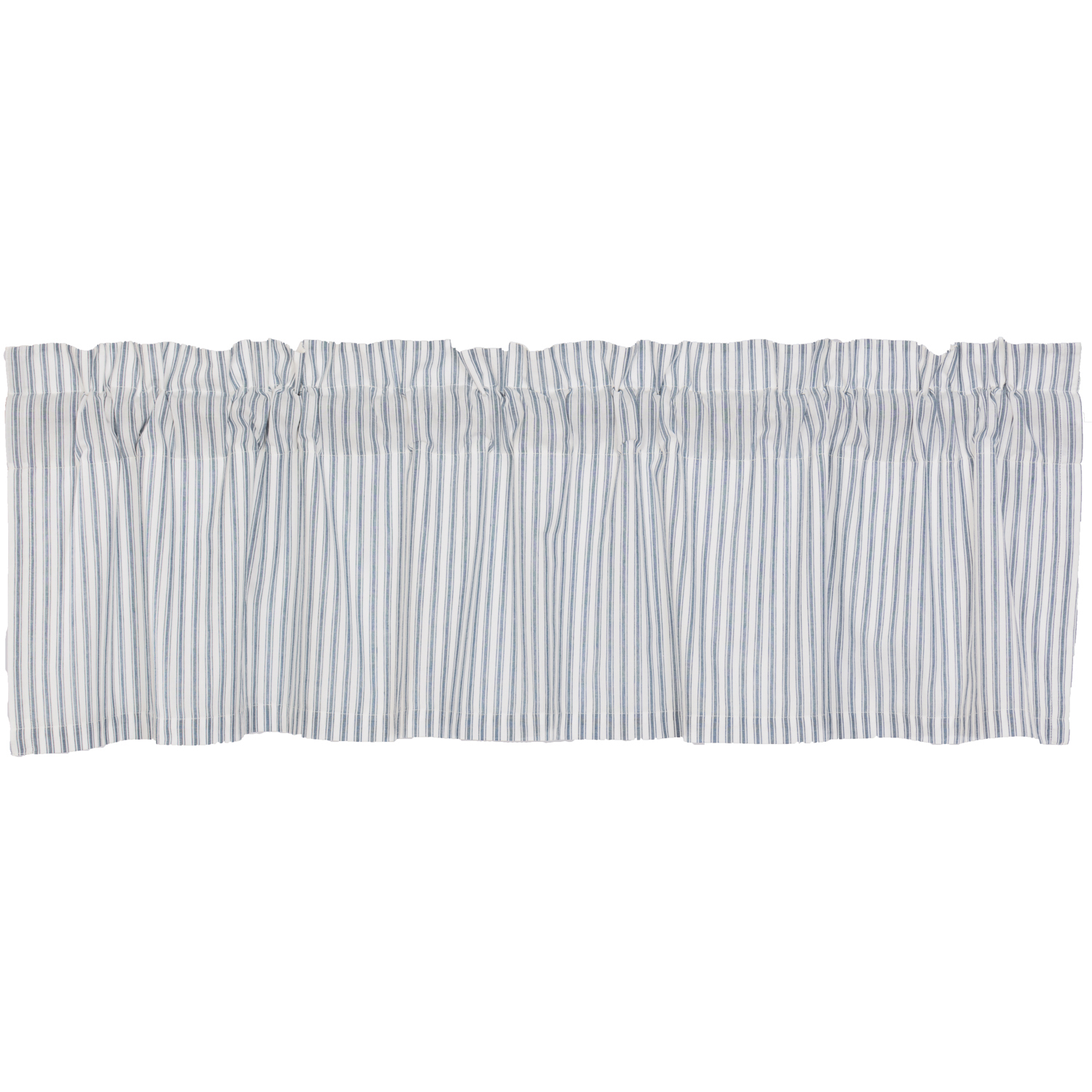 Sawyer Mill Blue Ticking Stripe Valance 16x60