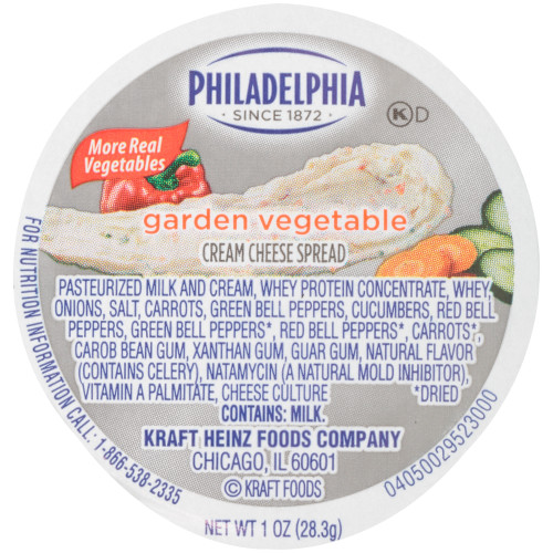 Philadelphia Garden Vegetable Cream Cheese Cup, 1 oz.
