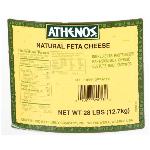 ATHENOS Traditional Feta 28 lb. Pail (Pack of 1)