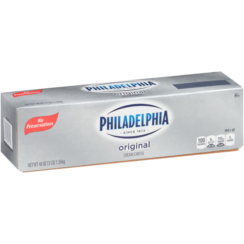 PHILADELPHIA Original Cream Cheese, 48 oz. Loaf (Pack of 6)