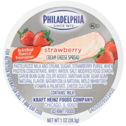 PHILADELPHIA Strawberry Cream Cheese Spread, 1 oz. Cup (Pack of 100)