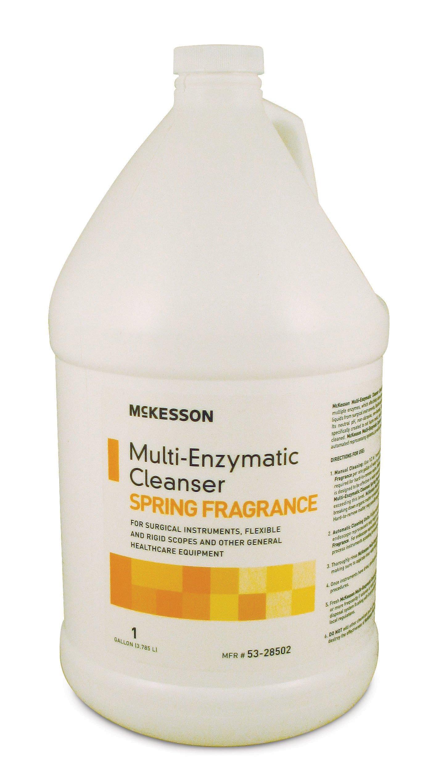Multi-Enzymatic Instrument Detergent, McKesson, Liquid 1 gal. Jug Spring Fresh Scent, 53-28502 - EACH