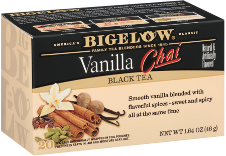 Bigelow vanilla chai ingredients