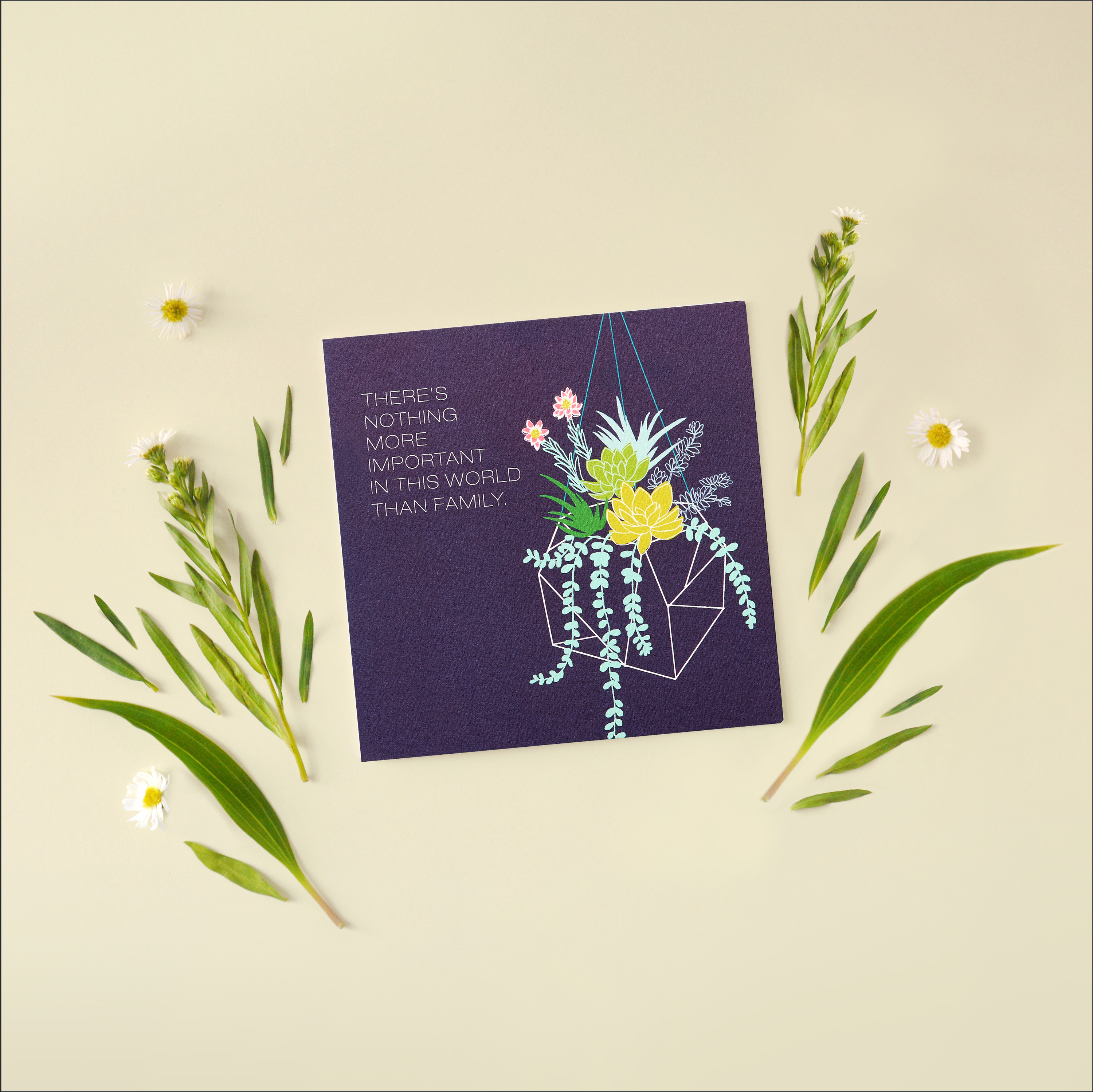 Family Greeting Card - Birthday, Thinking of You, Encouragement image