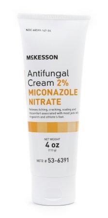 Antifungal, McKesson, 2% Strength Cream 4 oz. Tube, 53-6391 - EACH