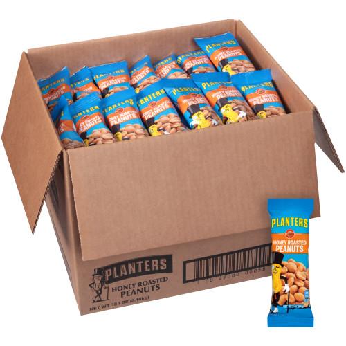 Planters Honey Roasted Peanuts, 144 ct Casepack, 2 oz Packs