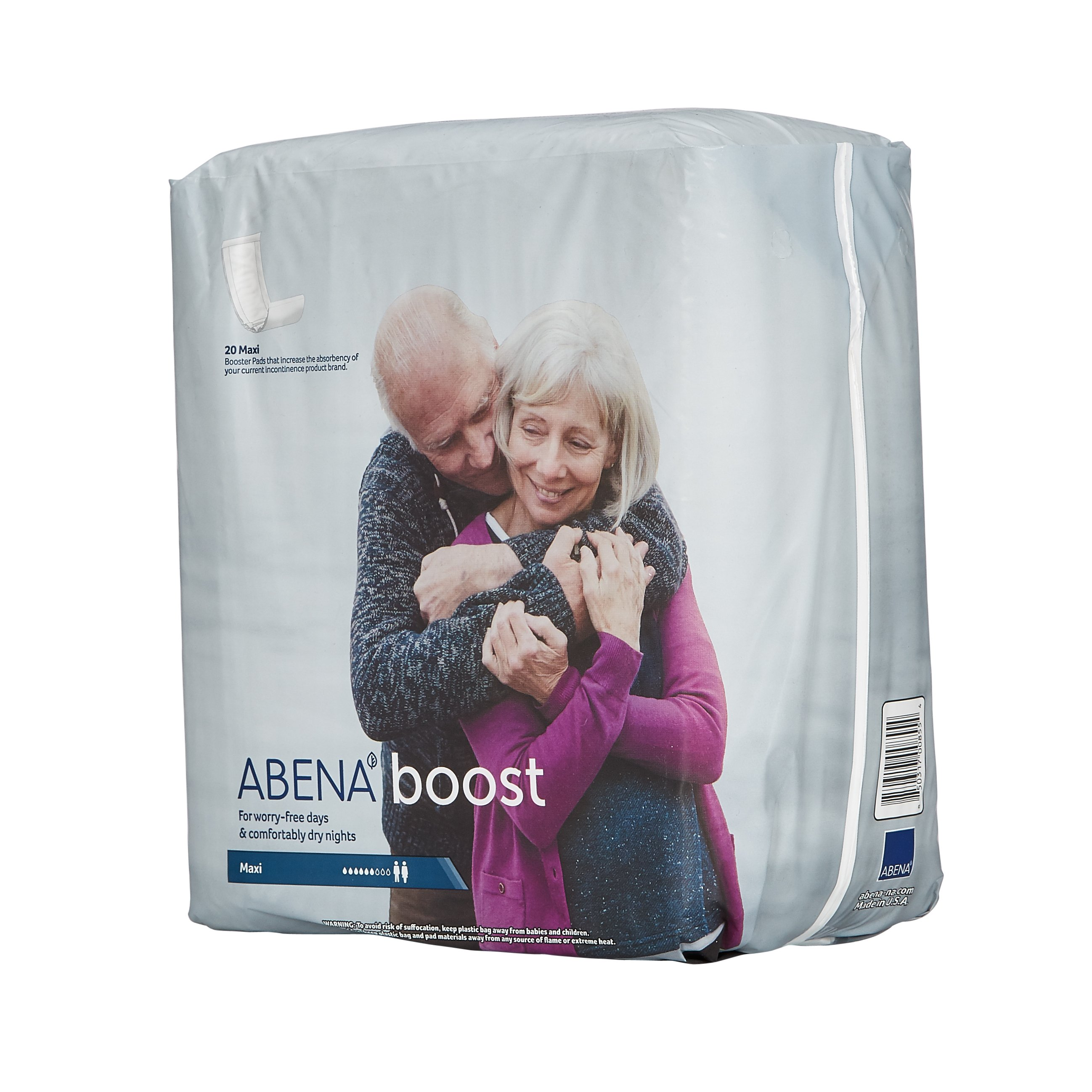 Abena Incontinence Booster Pad 7 X 24 Inch Moderate Absorbency Fluff / Polymer One Size Fits Most Unisex Disposable, 4035 - Case of 120