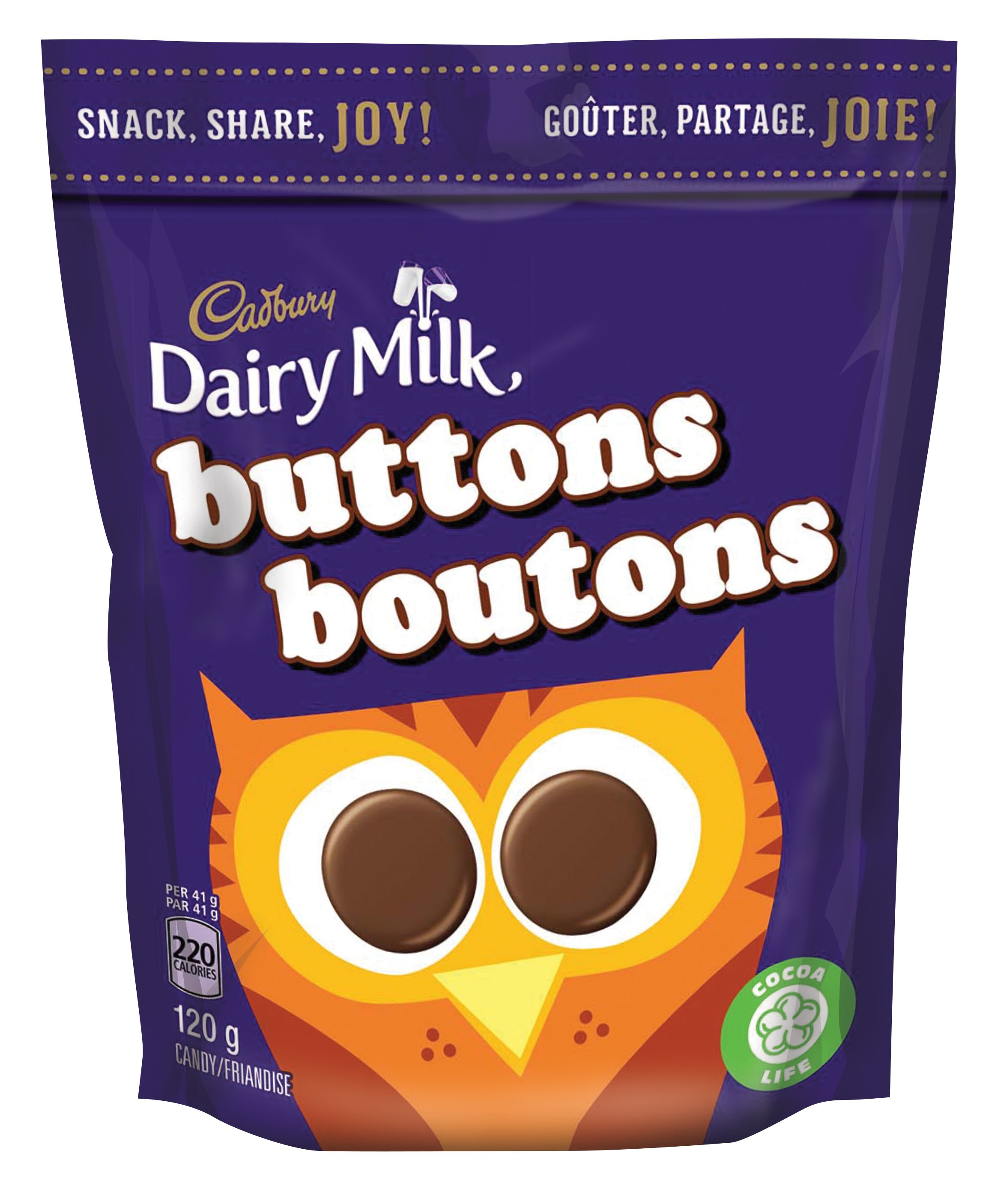 CAD DAIRY MILK BOUTONS 120G