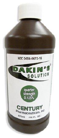 Dakin's Quarter Strength Wound Antimicrobial Cleanser 16 oz. Bottle, 00436067216 - EACH