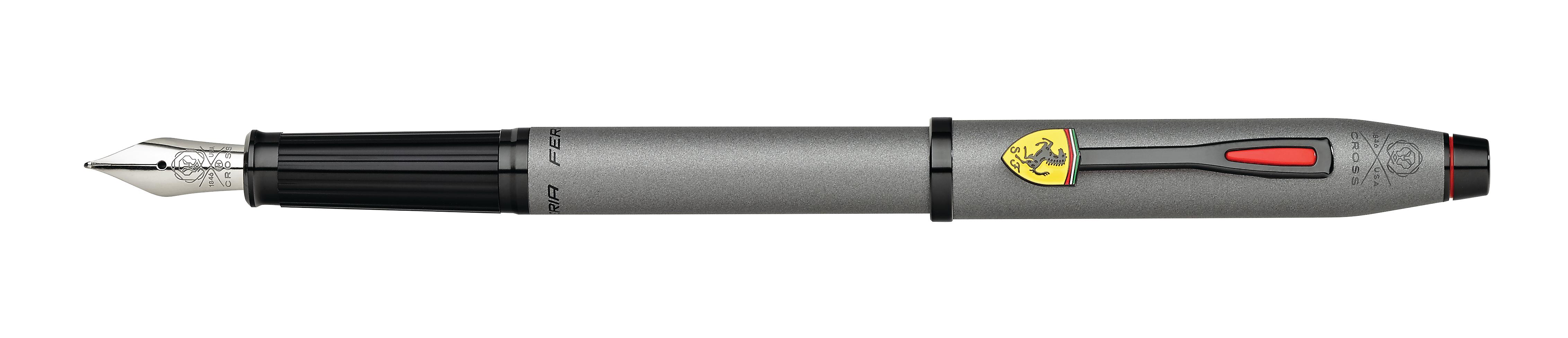 Cross Century II Collection for Scuderia Ferrari Titanium Gray Satin Lacquer Fountain Pen