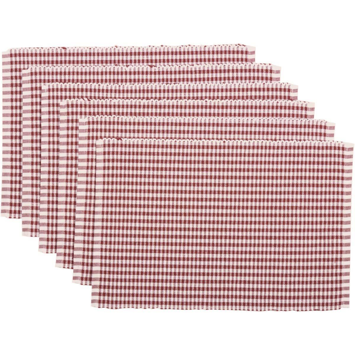 Tara Rust Ribbed Placemat Set of 6 12x18
