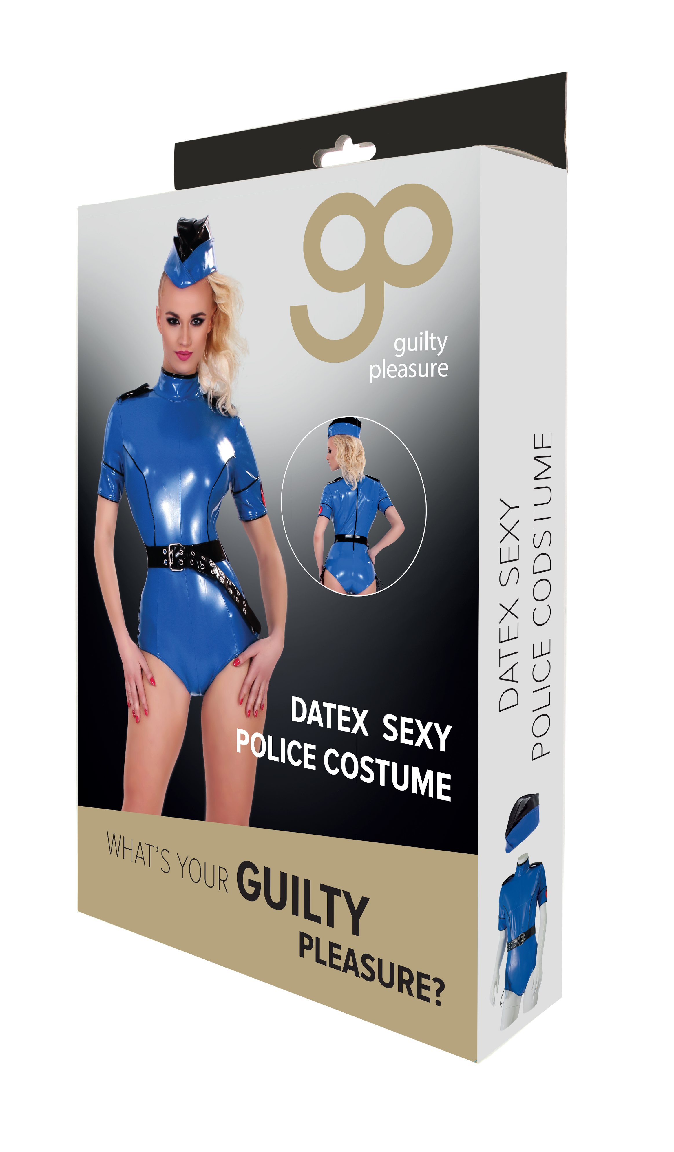 Guilty Pleasure - Datex Sexy Police Costume - M - Blue