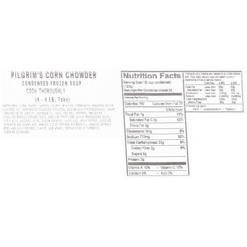 HEINZ CHEF FRANCISCO Corn Chowder Soup, 4 lb. Tub (Pack of 4)