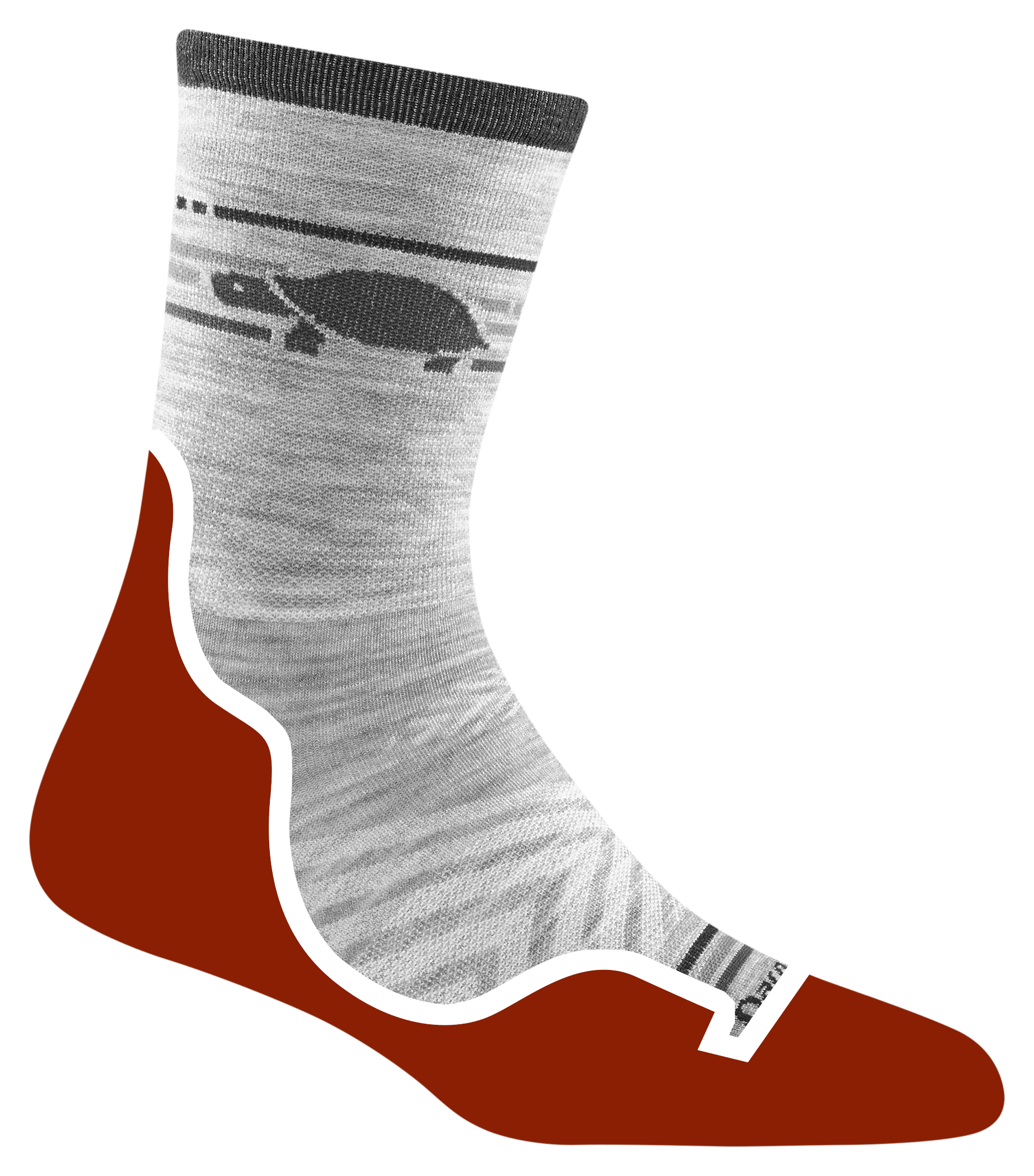 Cushion Location: Terry loop cushion isolated under the foot for rebound in these incredibly light running socks.. Cushion Weight: For the ultimate like-it's-not-even-there fit and feel, ultra-lightweight yarns give our running socks the lowest in-shoe profile.