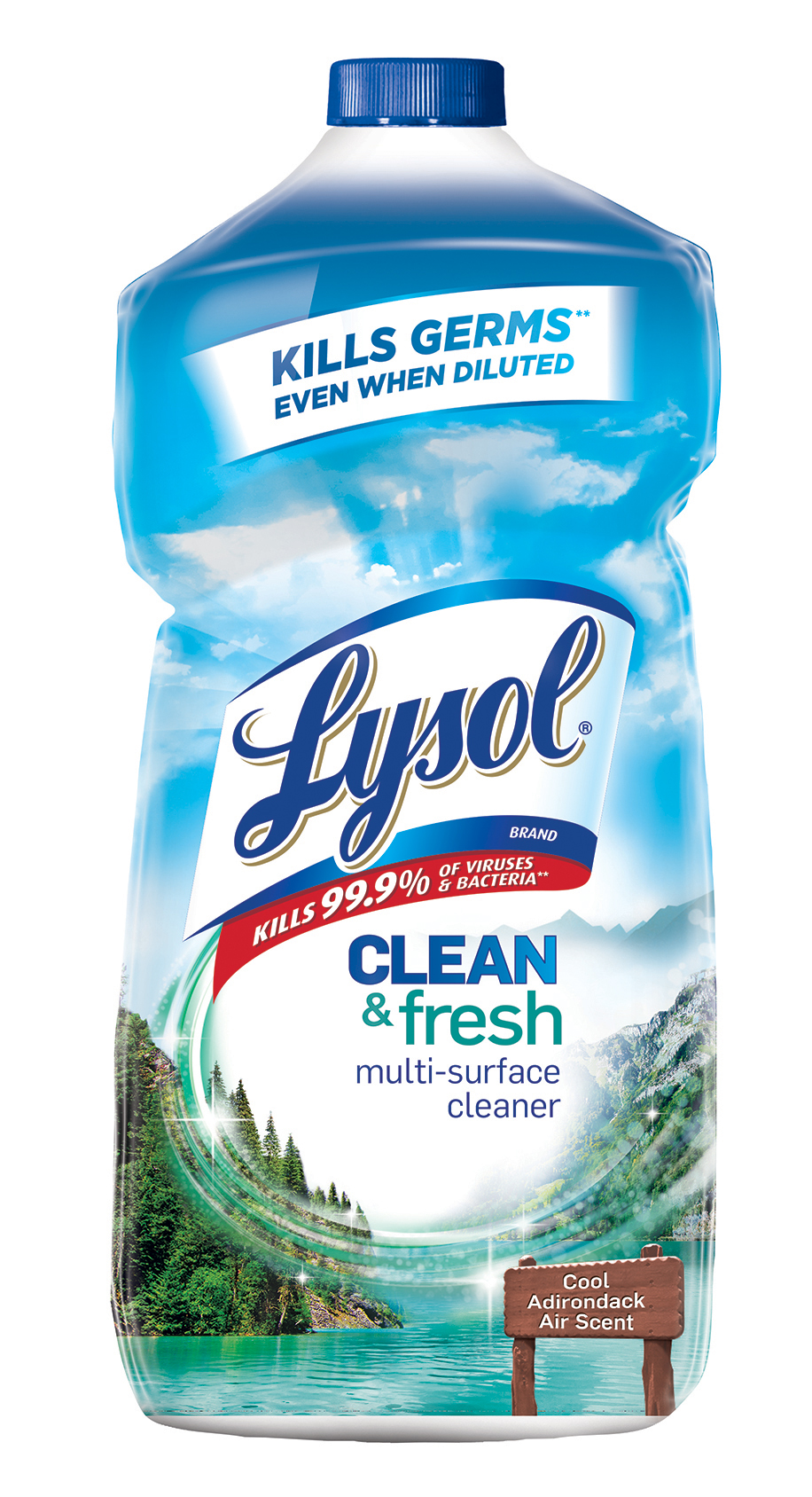 Lysol Clean & Fresh Multi-Surface Cleaner, Cool Adirondack Air, 28oz