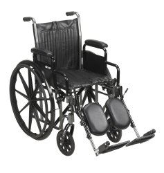 Wheelchair, McKesson, Desk Length Arm Padded, Removable Arm Style Composite Wheel Black 16 Inch Seat Width 250 lbs. Weight Capacity, 146-SSP216DDA-ELR - EACH