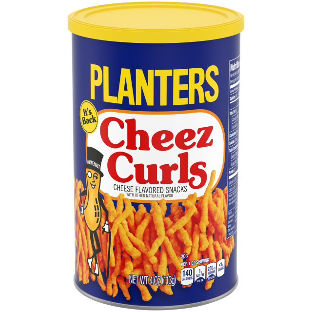 Planters Cheez Curls, 4 Ounce Cannister image