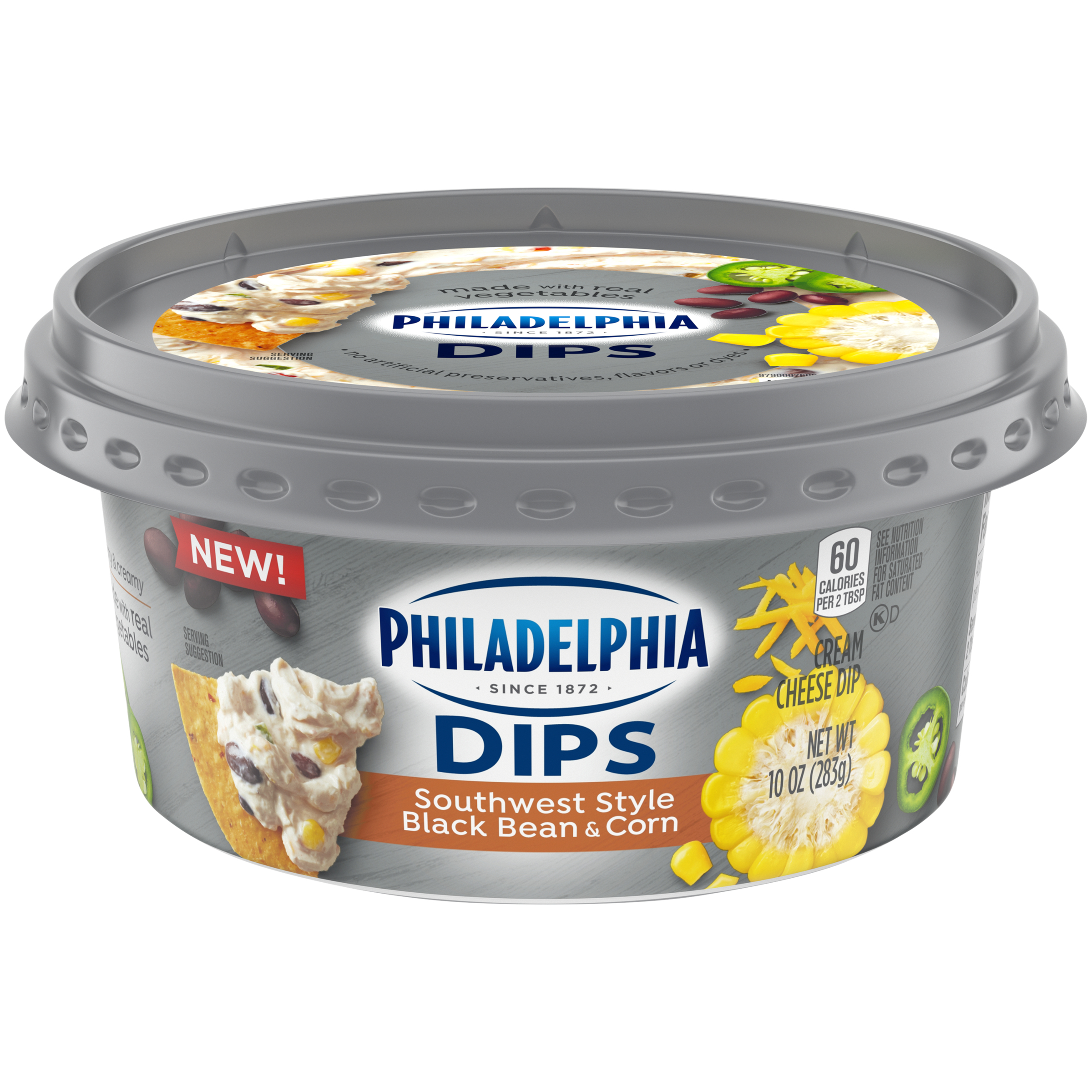 philadelphia dips southwest style black bean  u0026 corn cream