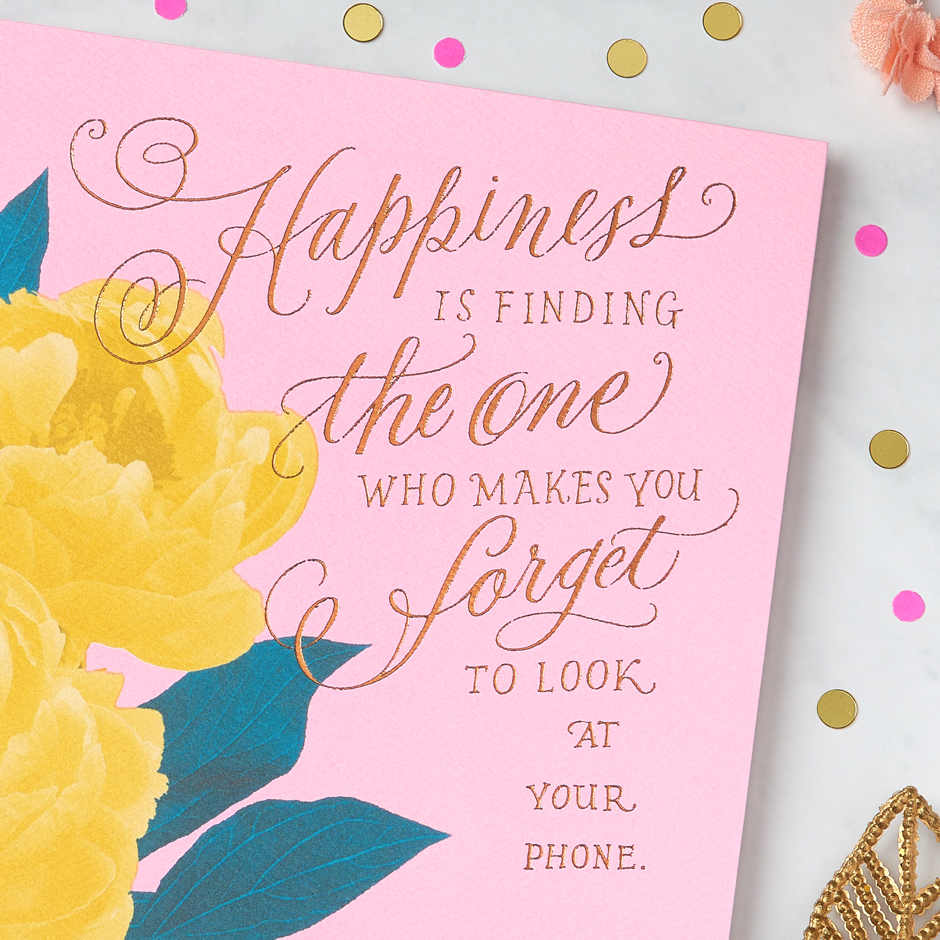 Floral Greeting Card - Romantic, Engagement, Wedding, Anniversary, Thinking of You image