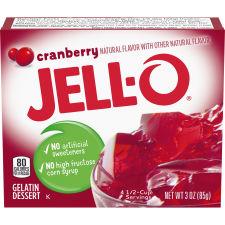 Jell-O Cranberry Gelatin Mix, 3 oz Box