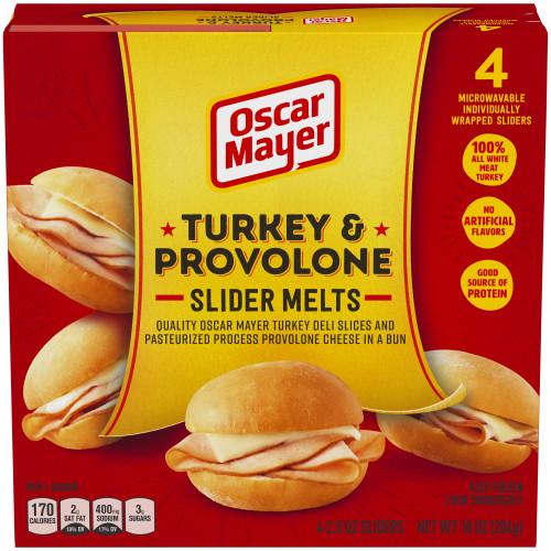 OSCAR MAYER Turkey & Provolone Slider Melts 10 oz Box