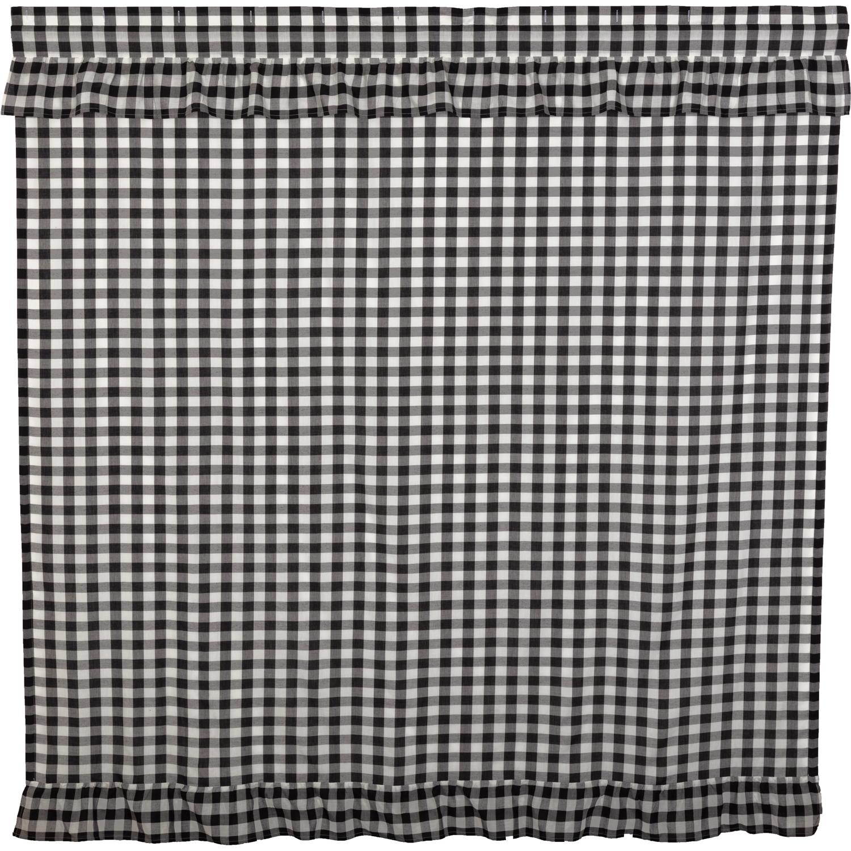 Annie Buffalo Black Check Ruffled Shower Curtain 72x72