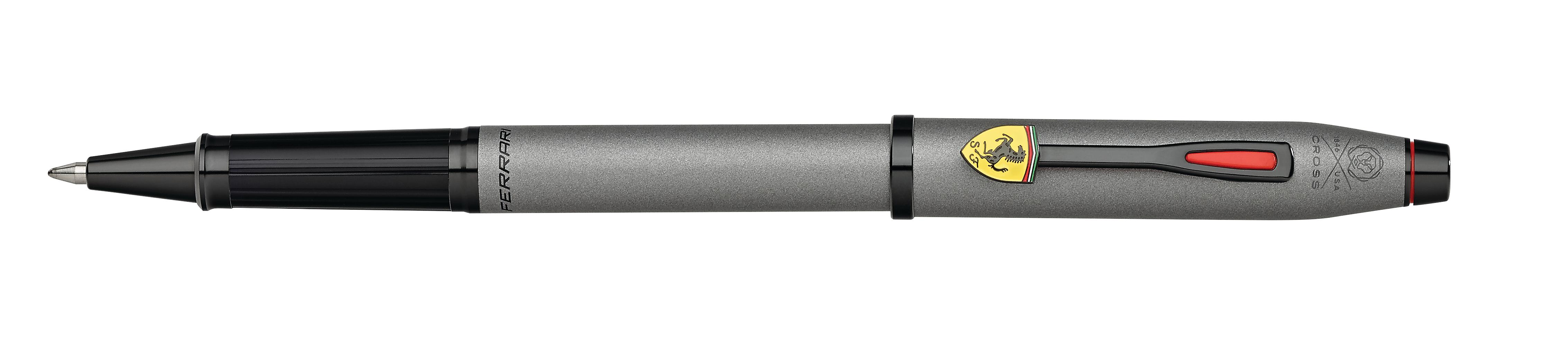 Cross Century II Collection for Scuderia Ferrari Titanium Gray Satin Lacquer Rollerball Pen