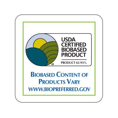 Dispenser Label - USDA Certified Biobased