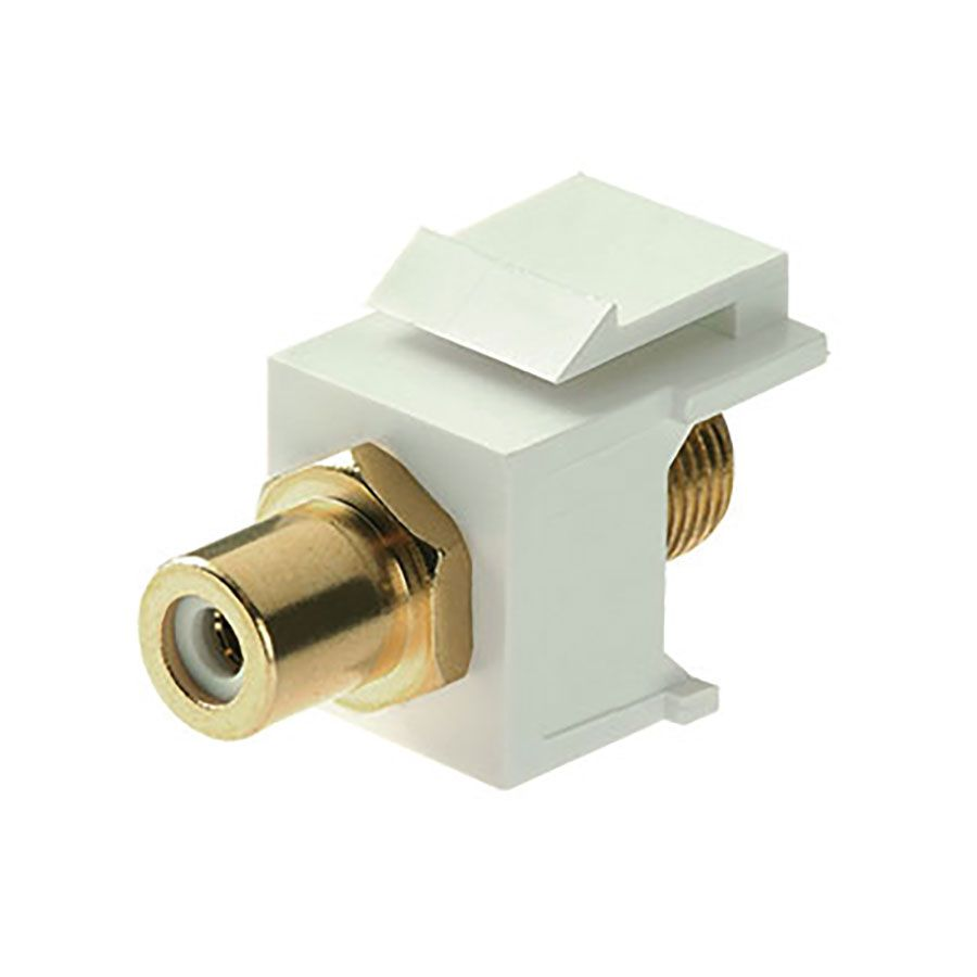 White Keystone F to RCA Insert Wave Electronics