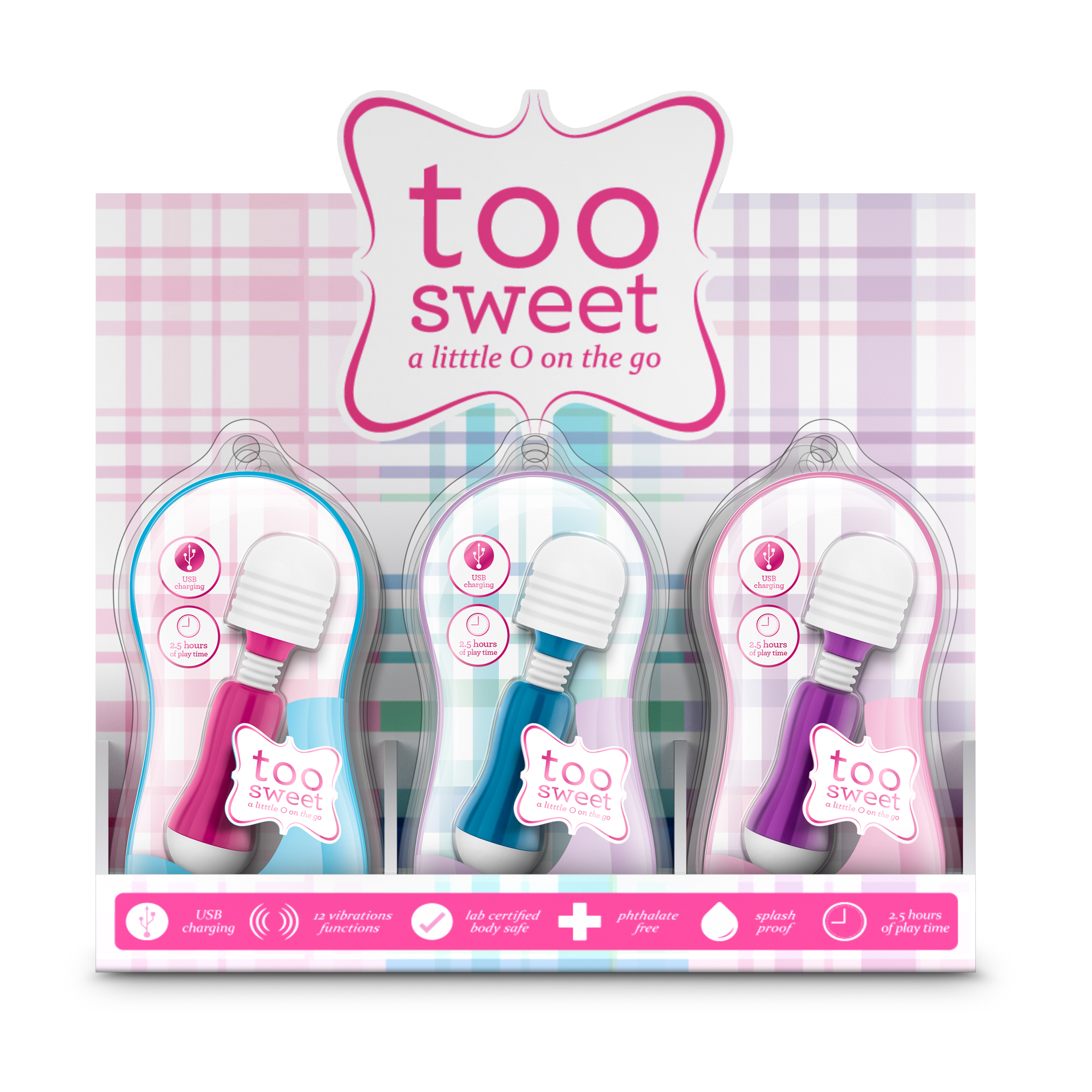 Vive - Too Sweet PDQ Display of 12 Pieces Assorted