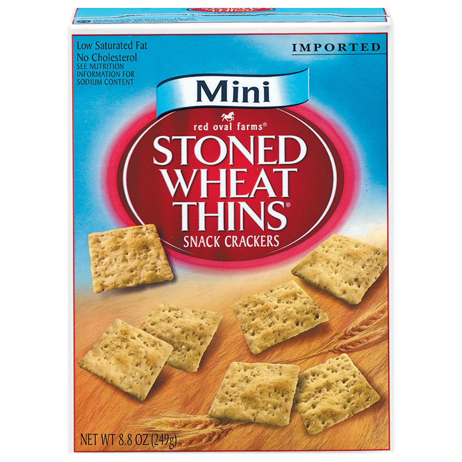 RED OVAL FARMS Stoned Wheat Thins Mini Crackers 8.8 oz