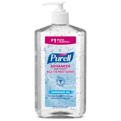 Purell Advanced Hand Sanitizer 20 oz. Ethyl Alcohol Gel Pump Bottle, 3023-12 - EACH
