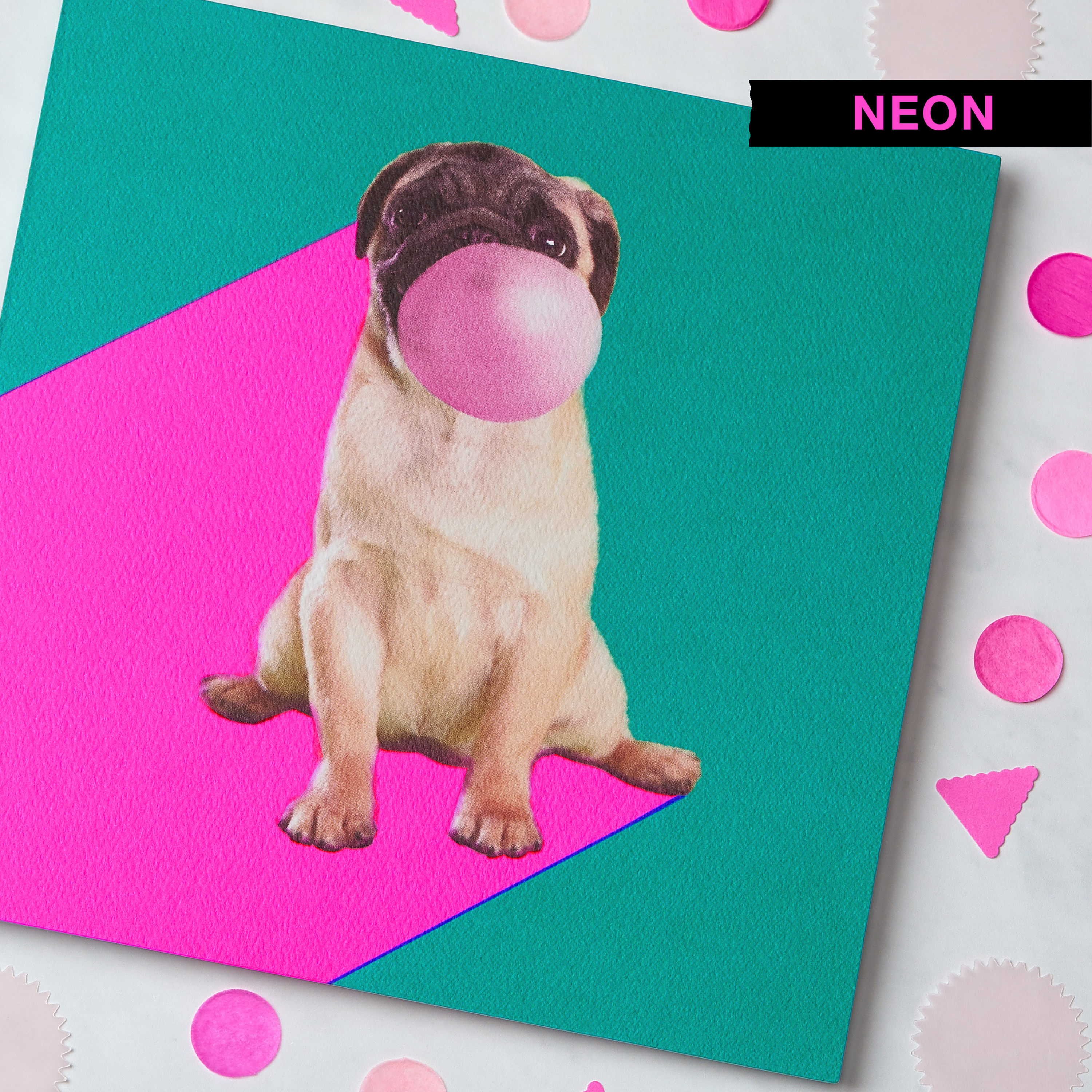 Pug Blank Card - Birthday, Friendship, Thinking of You image