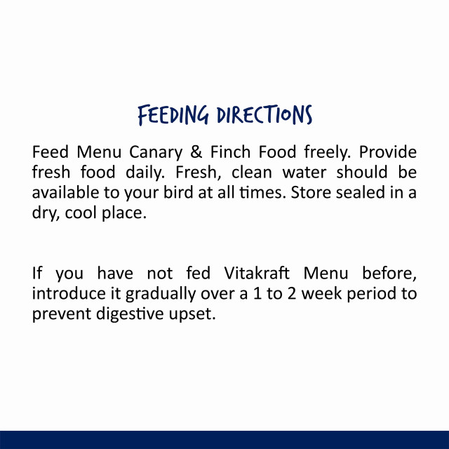 Nutrition-Image showing Menu Canary & Finch