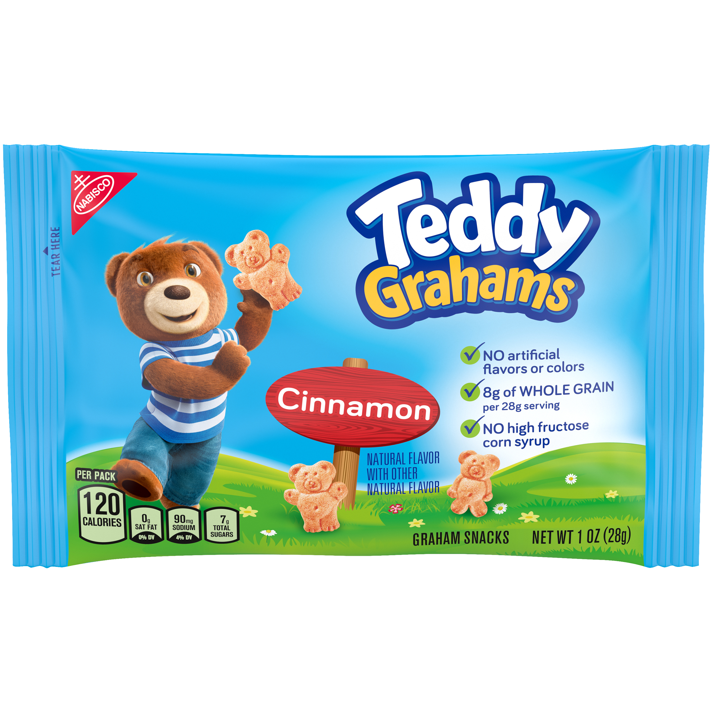 TEDDY GRAHAMS Cinnamon Lunchbox Cookies 1 oz