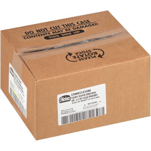 HEINZ Single Serve Light Ranch Salad Dressing, 1.5 oz. Packets (Pack of 60)