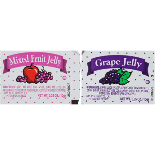 PPI Assortment 10 Jelly & Jam, 10 gr. Cups (Pack of 200)