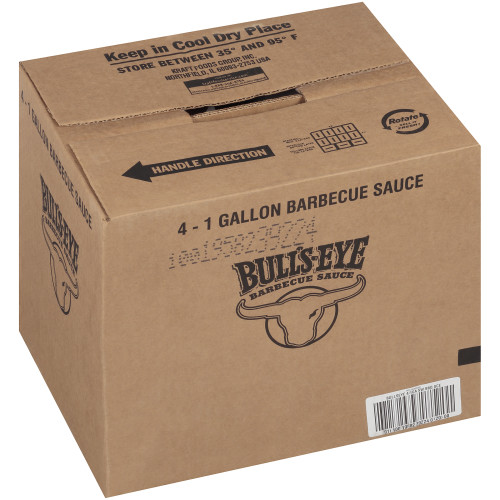 BULL'S-EYE Sweet BBQ Sauce, 1 gal. Jugs (Pack of 4)