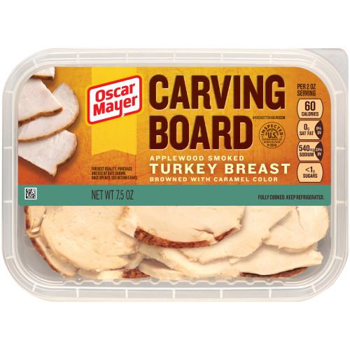 Oscar Mayer Carving Board Applewood Smoked Turkey Breast Tray, 7.5 oz