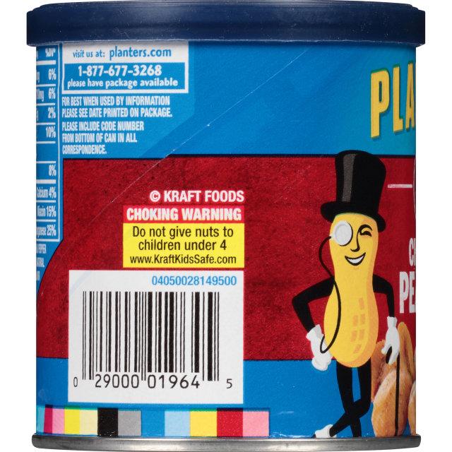PLANTERS Chipotle Peanuts 6 oz Can