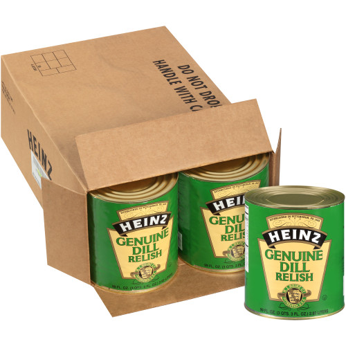 HEINZ Genuine Dill Relish #10 Can, 99 fl. Oz. (Pack of 6)