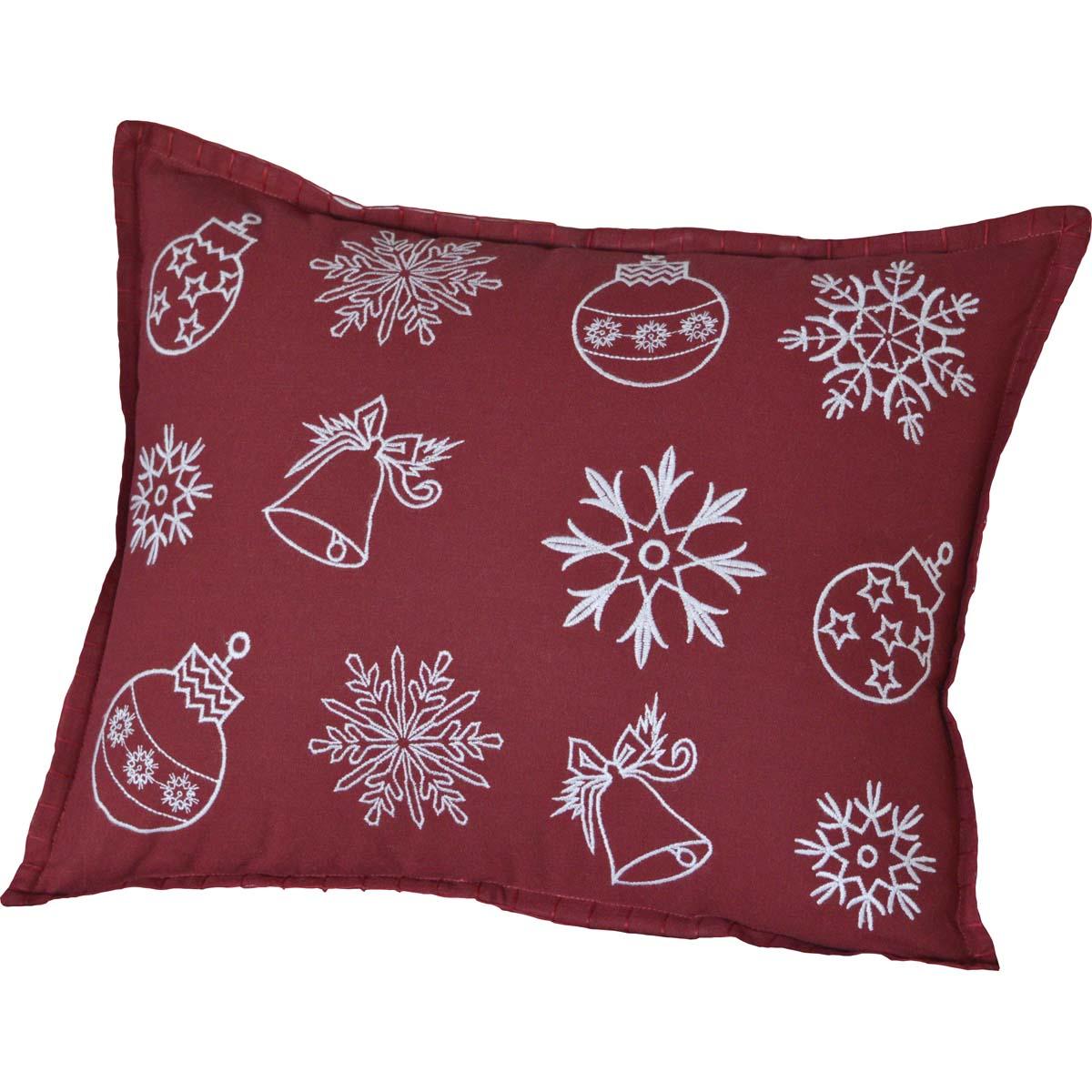Snow Ornaments Pillow 14x18