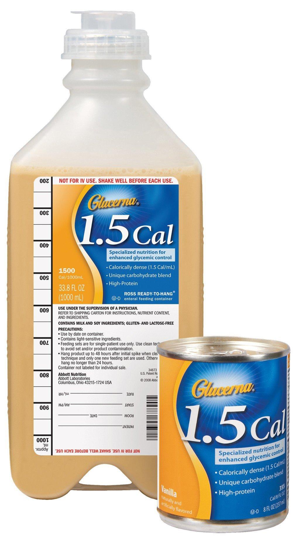 Glucerna 1.5 Cal Tube Feeding Formula Vanilla Flavor 8 oz. Can Ready to Use, 53534 - EACH