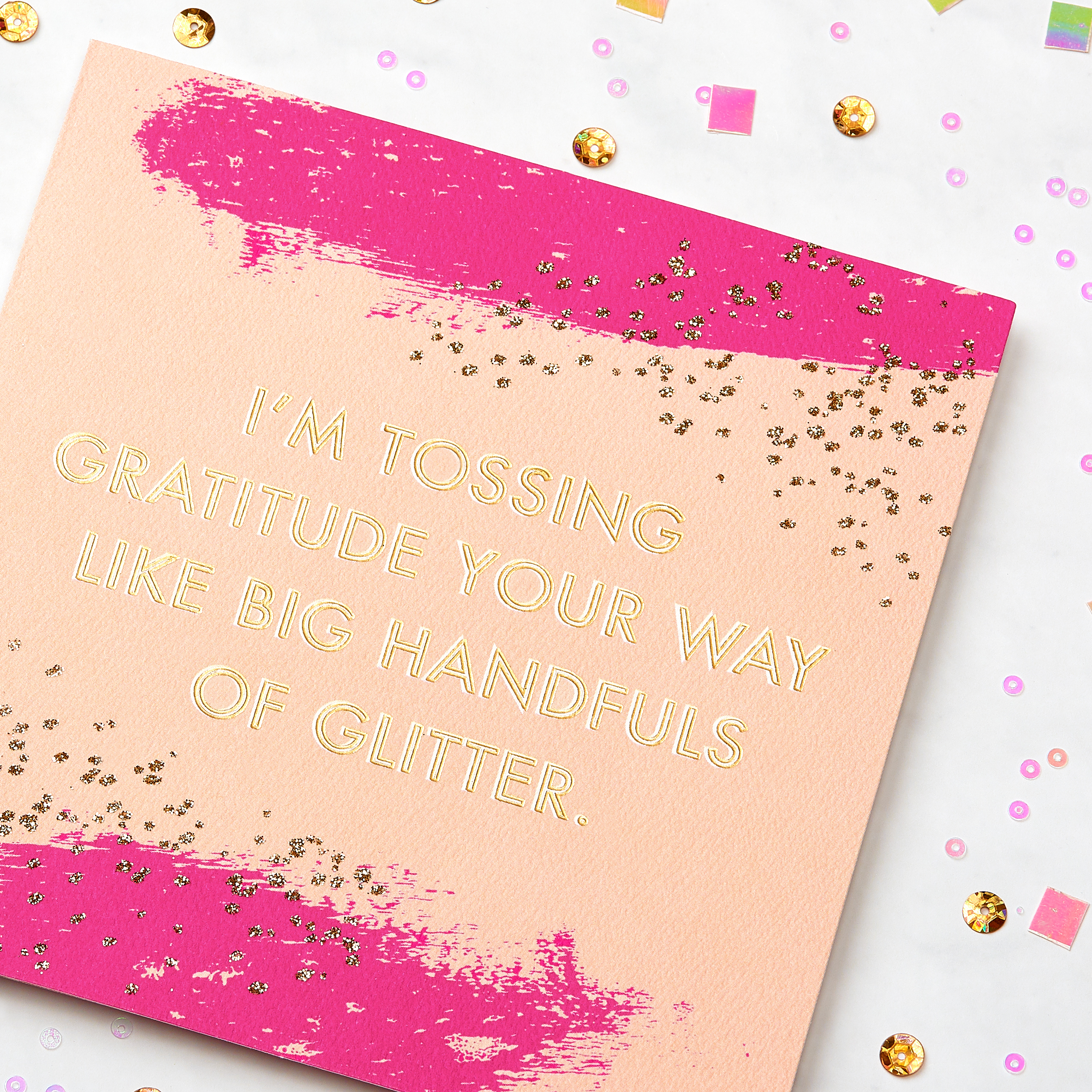 Glitter Thank You Greeting Card image