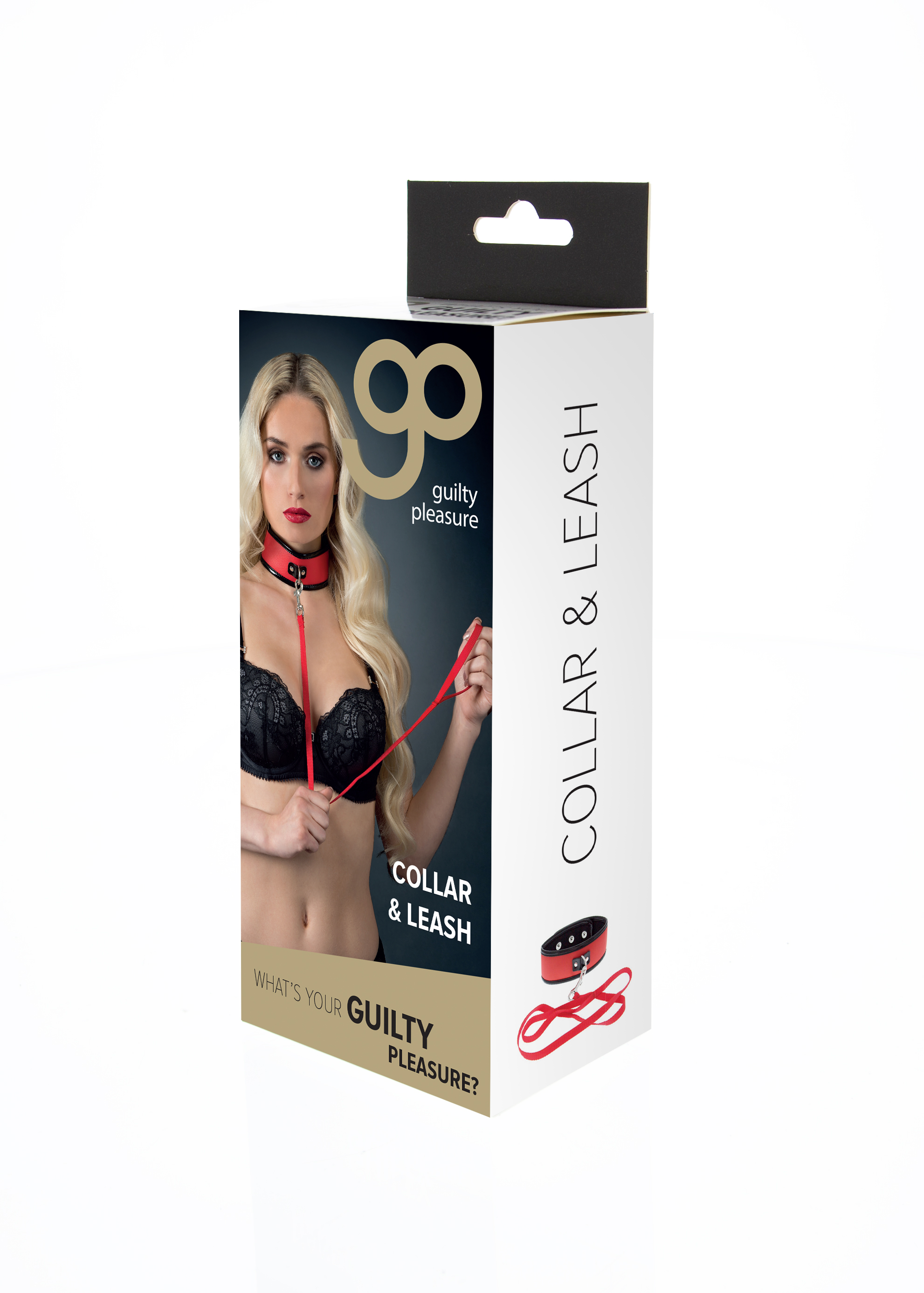 Guilty Pleasure - Collar and Leash - Red