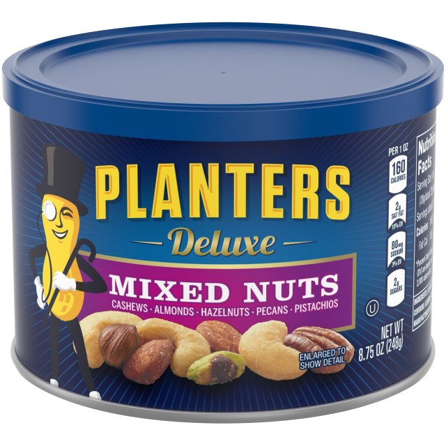 PLANTERS Deluxe Mixed Nuts 8.75 oz Can image