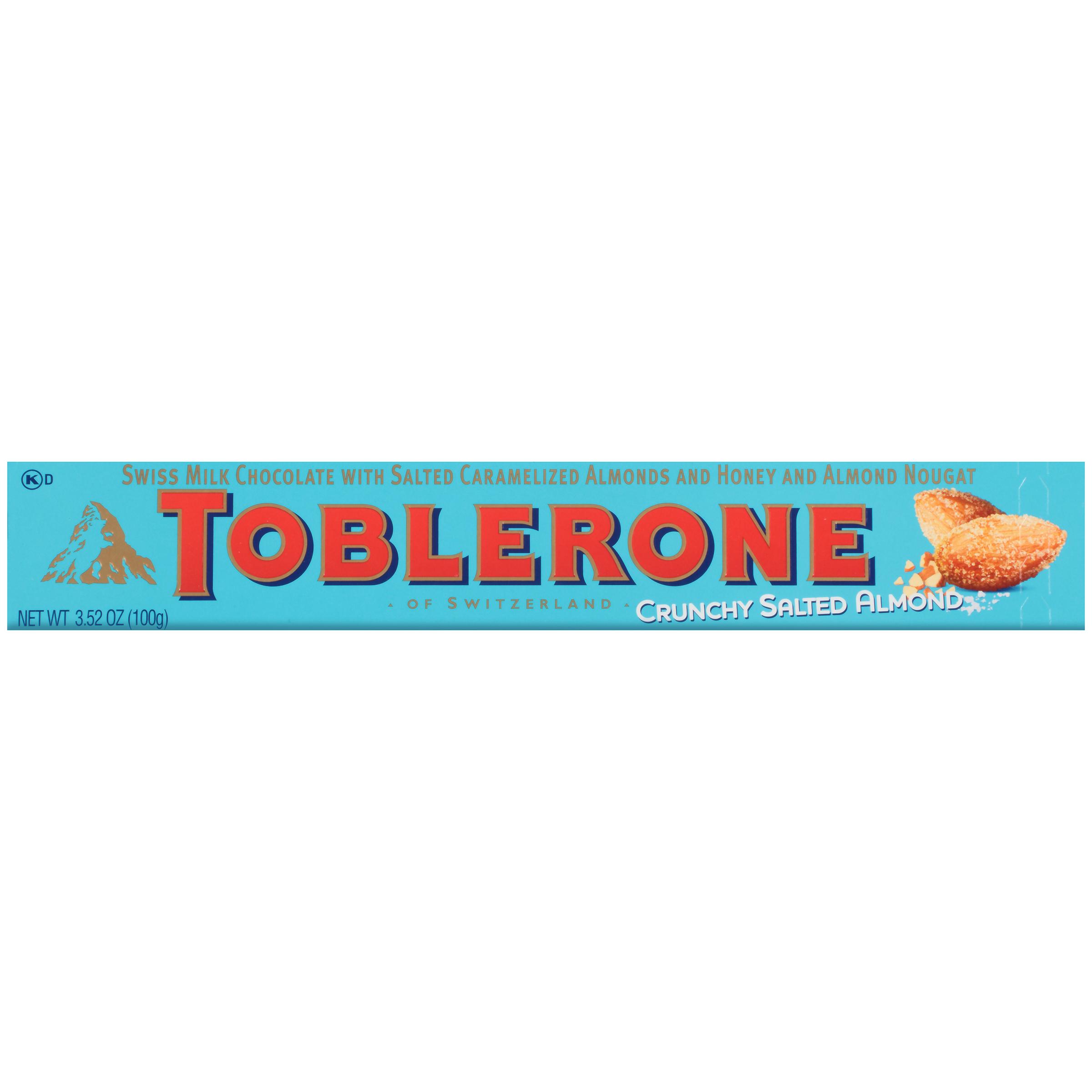 TOBLERONE Crunchy Almond With Sea Salt Chocolate 3.52 oz