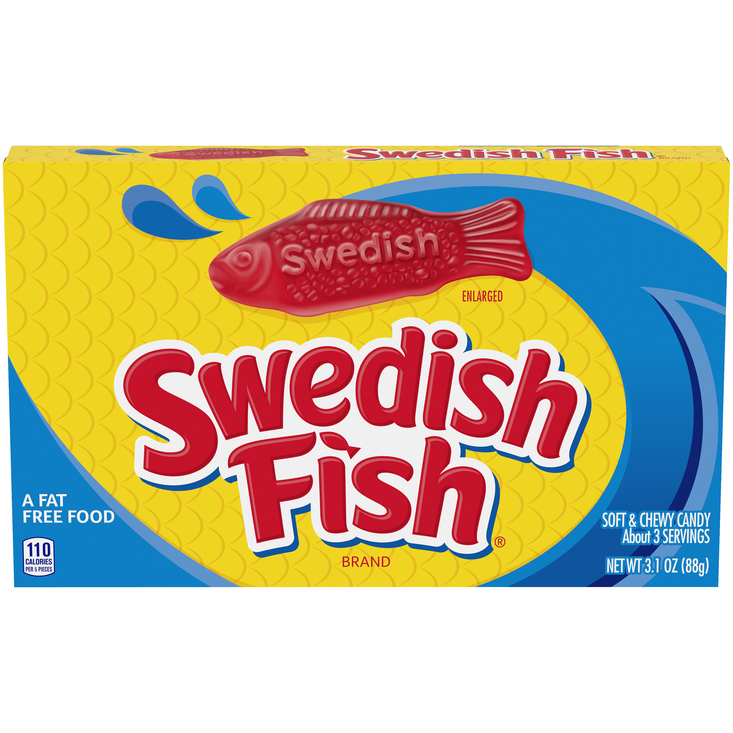 SWEDISH FISH Soft & Chewy Berry Soft Candy 3.1 oz