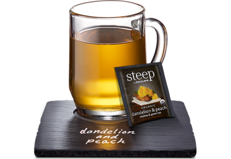 dandelion & peach rooibos & green tea - case of 6 boxes- total of 120 teabags