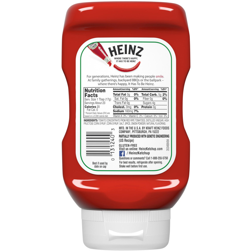 Heinz Tomato Ketchup 14 oz Squeeze Bottle